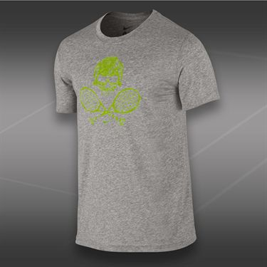 Nike Skull and Racquets T-Shirt 2-Dark Grey Heather