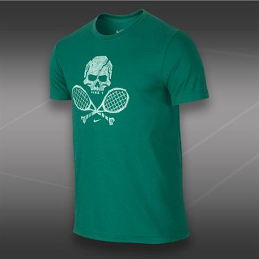 Nike Skull and Racquets T-Shirt 2-Mystic Green