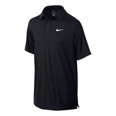 Nike Boys Court Polo-Black