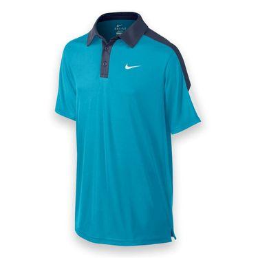 Nike Boys Court Polo - Blue Lagoon/Midnight Navy
