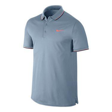Nike Court Polo - Blue Grey/Bright Mango