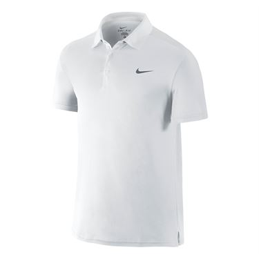 Nike Team Court Polo - White/Cool Grey