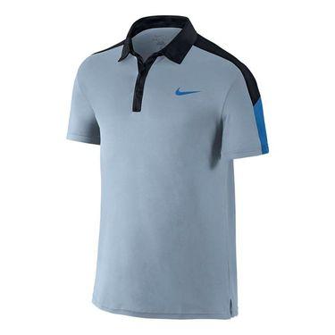 Nike Court Team Polo - Blue Grey/Black