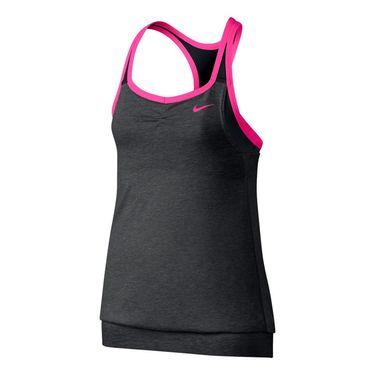 Nike Girls Dri Fit Cool 2 In 1 Cami-Black Heather
