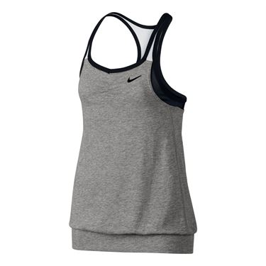 Nike Girls Dri Fit Cool 2 In 1 Cami-Birch Heather