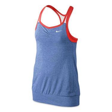 Nike Girls Dri Fit Cool 2 In 1 Cami - Chalk Blue/Lite Crimson