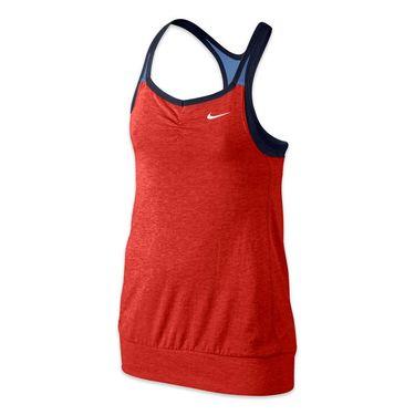 Nike Girls Dri Fit Cool 2 In 1 Cami - Lite Crimson/Chalk Blue