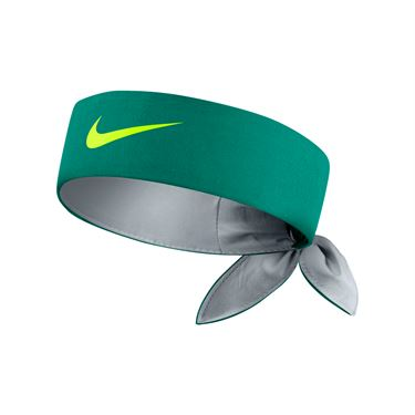 Nike Court Tennis Headband - Teal Charge/Wolf Grey/Volt