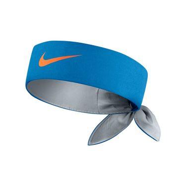Nike Court Tennis Headband - Light Photo Blue/Wolf Grey/Total Orange