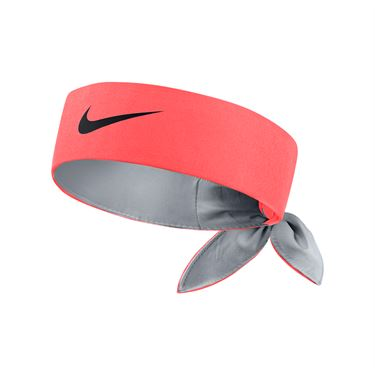 Nike Tennis Headband - Hot Punch/Wolf Grey/Black