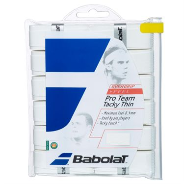 Babolat Pro Team Tacky Thin Tennis OverGrip (12 pack)