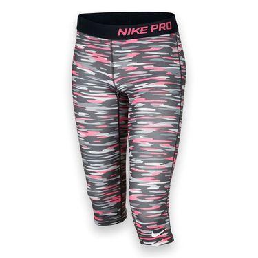 Nike Girls Pro Graphic Capri - Wolf Grey/Black