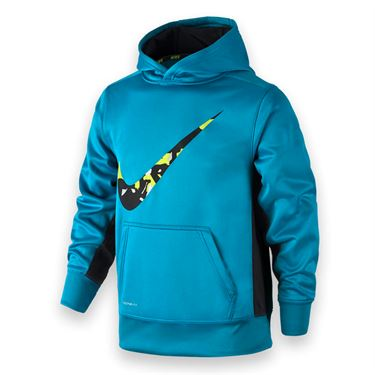 Nike Boys Knock Out 3.0 Swoosh Hoodie  - Blue Lagoon/Black