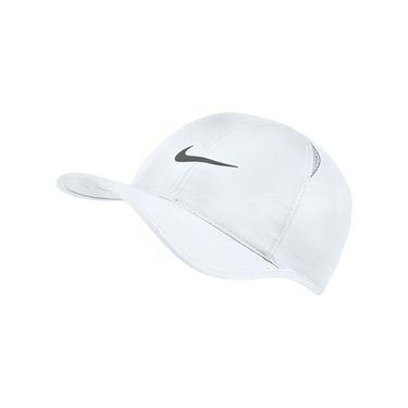 Nike Feather Light Hat - White/Dark Grey