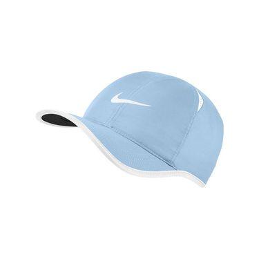Nike Mens Featherlight Tennis Hat - Hydrogen Blue/White