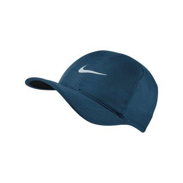 Nike Featherlight Hat - Blue/Black/ Platinum 679421 474