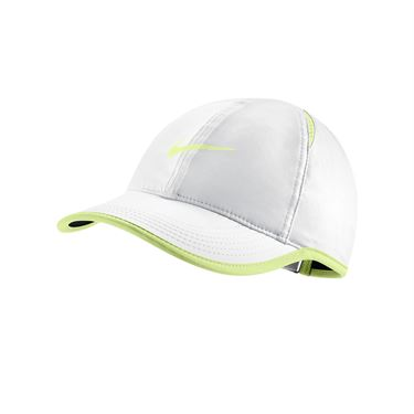 Nike Womens Featherlight Hat - White/Black/Volt