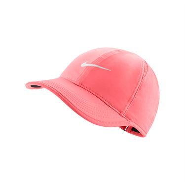Nike Court Aerobill Featherlight Womens Hat - Lava Glow/Black/White 679424 676