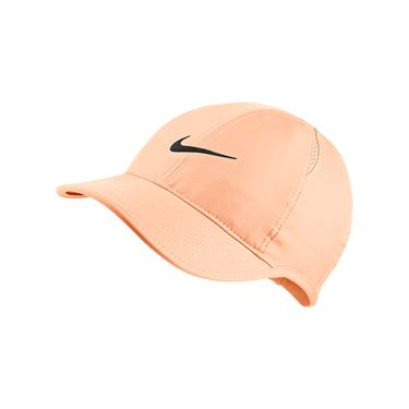 Nike Court Aerobill Featherlight Womens Hat - Crimson Tint/Black 679424 814