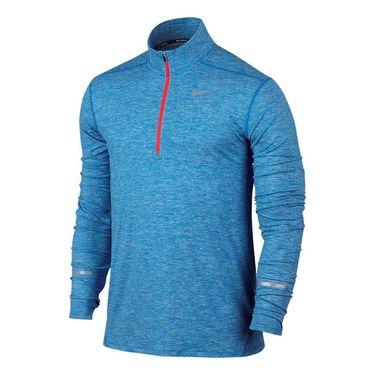 Nike Dri Fit Element 1/2 Zip - Light Photo Blue/Bright Crimson