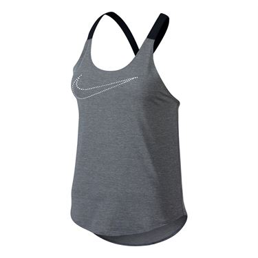 Nike Elastika Keyhole Veneer Tank - Cool Grey