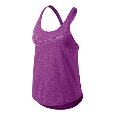 Nike Elastika Keyhole Veneer Tank - Cosmic Purple