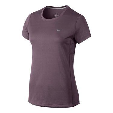 Nike Dry Miler Running Top - Purple Shade