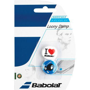 Babolat Loony Vibration Dampener - White/Blue Love