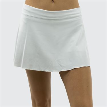 Sofibella Plus Size 13 Inch Skirt - White