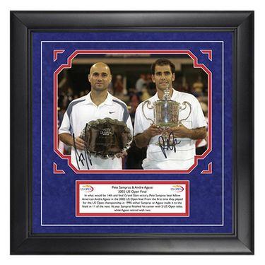 Andre Agassi & Pete Sampras Signed US Open 2002 Memorabilia