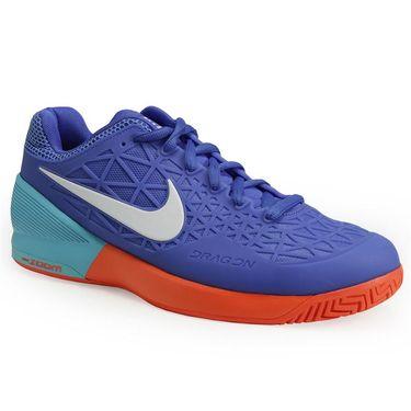 Nike Zoom Cage 2 Mens Tennis Shoe - Medium Blue/White/Polarized Blue