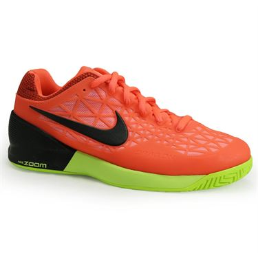 Nike Zoom Cage 2 Mens Tennis Shoe - Hyper Orange/Black/Lava Glow/Volt