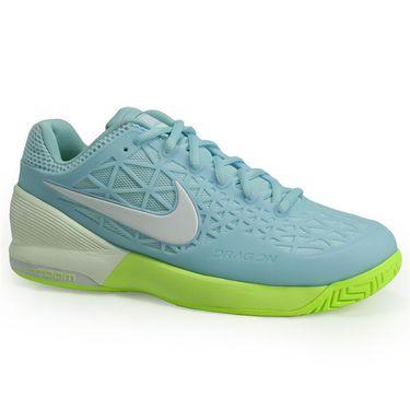 Nike Zoom Cage 2 Womens Tennis Shoe - Still Blue/White/Volt