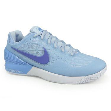 Nike Zoom Cage 2 Womens Tennis Shoe - Ice Blue/Comet Blue/University Blue
