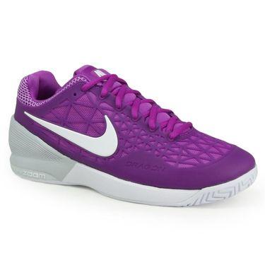 Nike Zoom Cage 2 Womens Tennis Shoe - Vivid Purple/White/Pure Platinum