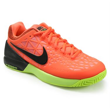 Nike Zoom Cage 2 Womens Tennis Shoe - Hyper Orange/Black/Lava Glow/Volt