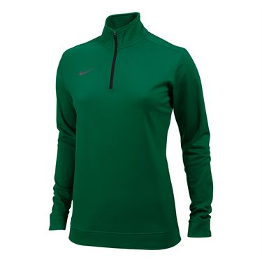 Nike Dri-FIT 1/2 Zip Top - Dark Green