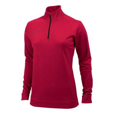 Nike Dri-FIT 1/2 Zip Top - Scarlet