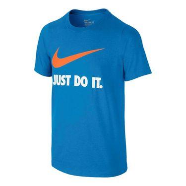 Nike Boys JDI Swoosh Training Tee - Light Photo Blue