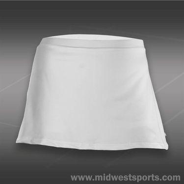 Pure Lime Laser Cut Modern Basic Skirt - White