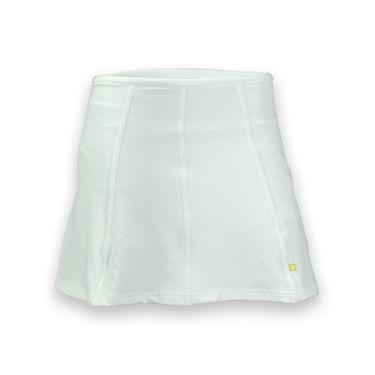 Pure Lime Basic Pleated Back Skirt - White