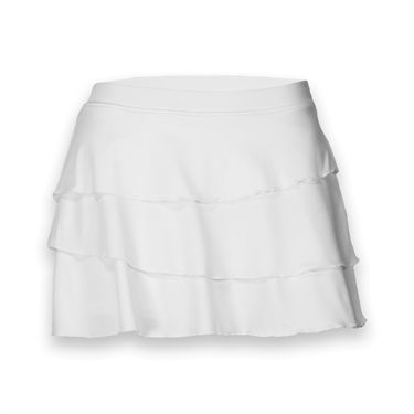 Pure Lime First Serve 12.5 Inch Skirt - White