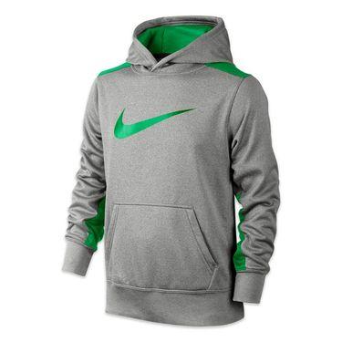 Nike Boys Knock Out 3.0 Hoodie - Dark Grey Heather/Spring Leaf