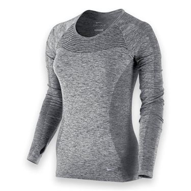 Nike Dri-FIT Knit Long Sleeve Top - Black