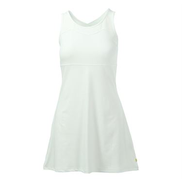 Pure Lime All White Cross Back Dress