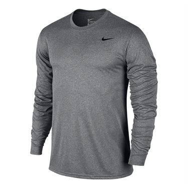 Nike Legend 2.0 Long Sleeve Crew - Carbon Heather