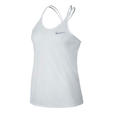 Nike Dri Fit Cool Breeze Strappy Tank - White