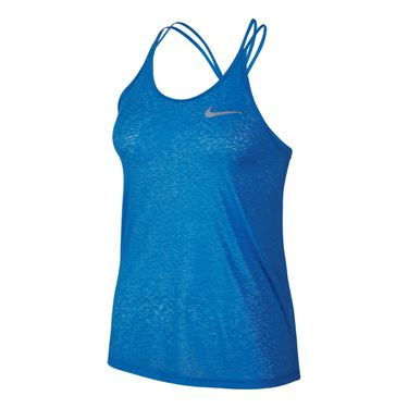 Nike Dri Fit Cool Breeze Strappy Tank - Lite Photo Blue