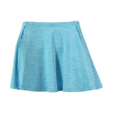 Pure Lime Tie Breaker Ruffled Skirt- Mediterranean Marl