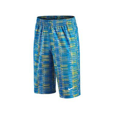 Nike Boys Fly Allover Print Short Lite - Photo Blue/White